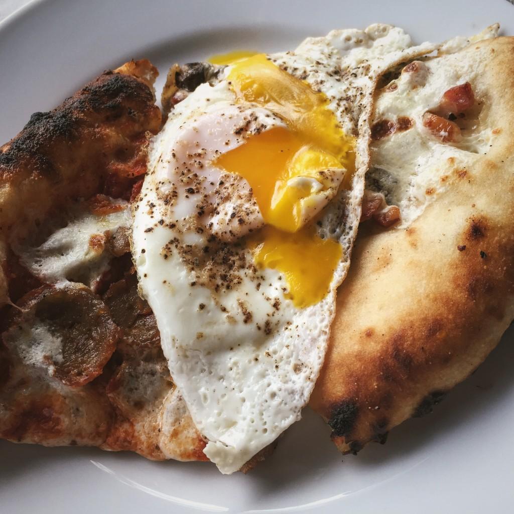 Leftover breakfast Pizza