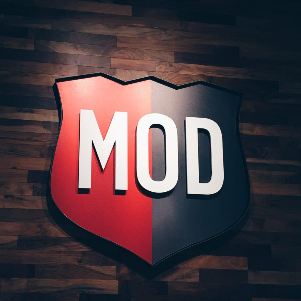 MOD Logo Interior Signage