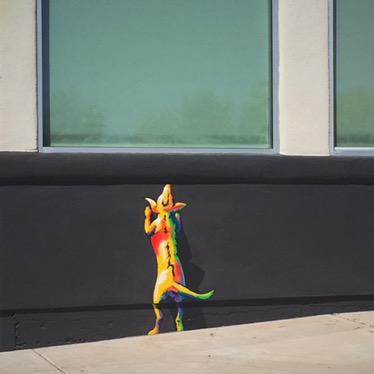 Stray Dog Mural by Joe Pagac